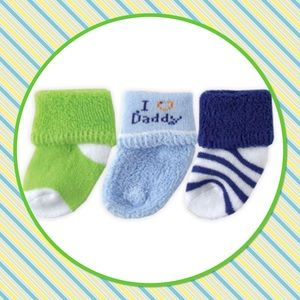 "💙New💙Three Pack ""I Love Daddy"" Socks"